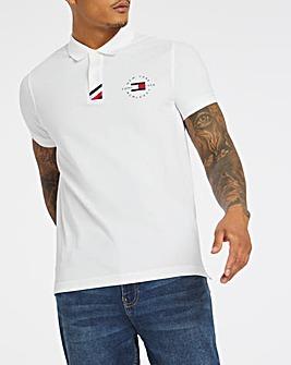 Tommy Hilfiger White Stripe Placket Polo