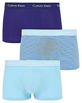 Calvin Klein 3 Pack Low Rise Cotton Stretch Trunk