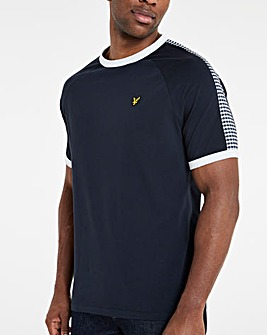 Lyle & Scott Sport Gingham T-Shirt - Navy