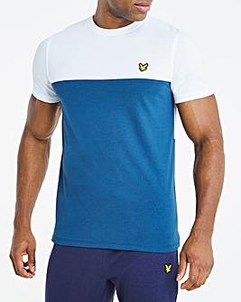 Lyle & Scott Sport Colourblock T-Shirt - Blue