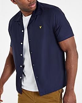 Lyle & Scott Navy Short Sleeve Resort Shirt