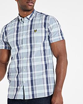 Lyle & Scott Deck Blue Short Sleeve Check Shirt