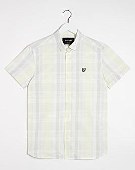 Lyle & Scott Short Sleeve Check Shirt - Lemon