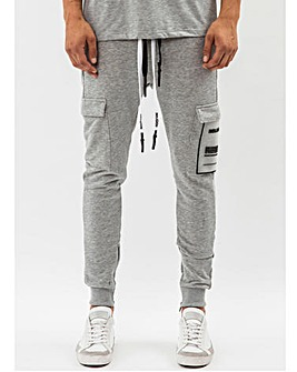 Religion Grey Marl Rep Jogger