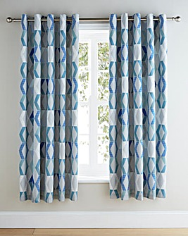 Ryley Lined Eyelet Curtains