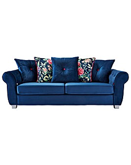 Joe Browns Floral Pillow 3 Seater Sofa