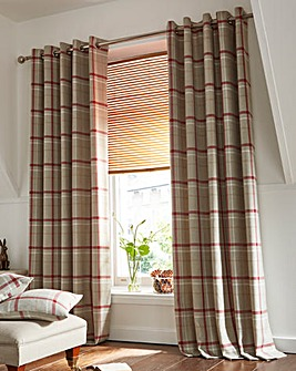 Hudson Check Lined Eyelet Curtains