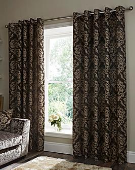 Hallam Damask Lined Eyelet Curtains
