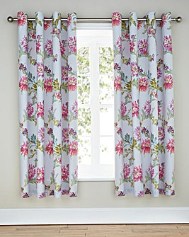Chrysanthemum Lined Eyelet Curtains