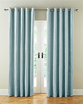 Faux Suede Long LengthLined Eyelet Curtains