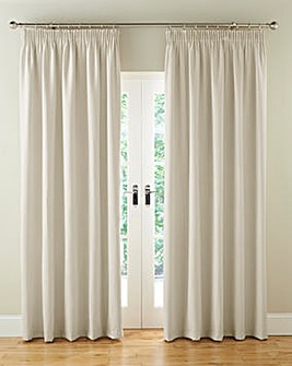 Faux Suede Long Length Pencil Pleat Lined Curtains