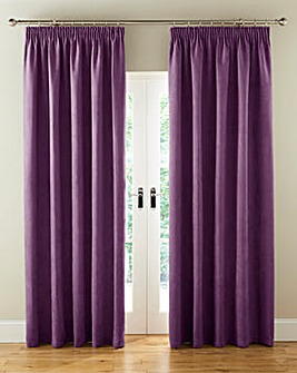 Faux Suede Long Pencil Pleat Curtains