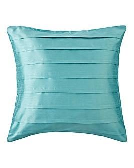 Faux Silk Pleated Filled Cushion