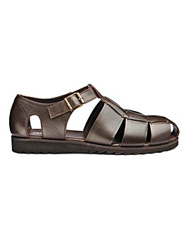 Leather Fisherman Sandal Wide Fit