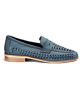 Leather Interweave Loafer