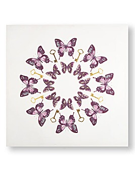 Graham & Brown Butterfly Printed Canvas