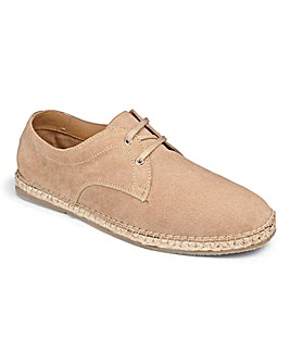 Suede Lace Up Espadrille Standard Fit