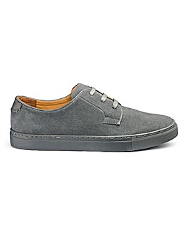 Suede Lace Up Shoes Narrow Fit