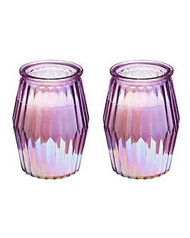 Set of 2 Glass Scented Candles