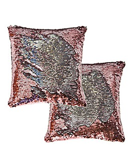 Set of 2 Sequin Cushion