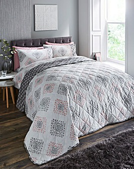 Indra Pink Quilted Throwover