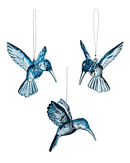 Set of 3 Decorative Acrylic Hummingbirds
