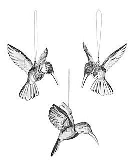 Set of 3 Decorative Acrylic Hummingbirds
