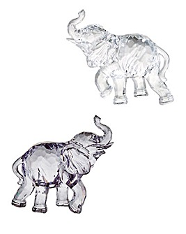 Set of 2 Decorative Acrylic Elephant