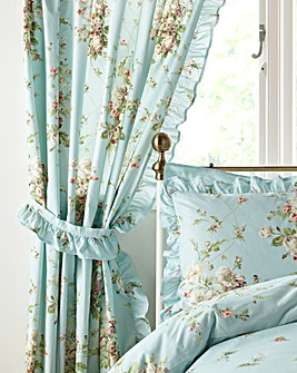 Vantona Madeleine Duck Egg Pencil Pleat Curtains