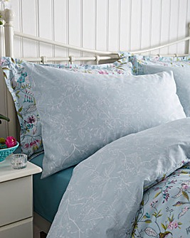 V&A Botanica Aqua Housewife Pillowcases