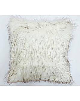 cascade home luxury faux mink cushion