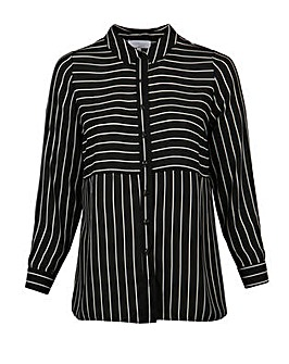 Lovedrobe GB Stripe Longline Shirt