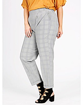 Lovedrobe GB Grey Check Trousers