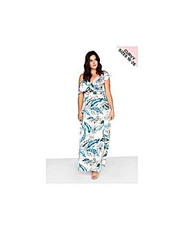 Little Mistress Curvy Wrap Maxi Dress