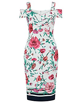 Monsoon Lucy Print Bardot Dress