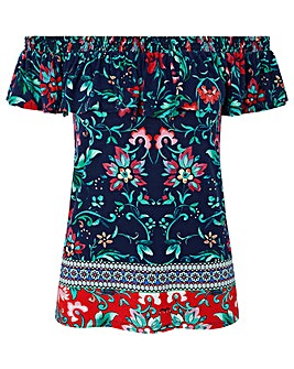 Monsoon Amanda Print Placement Top