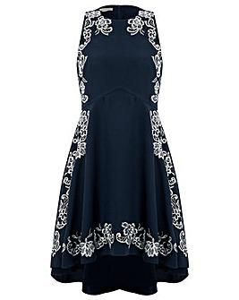 Monsoon Esmeralda Embroidered Dress