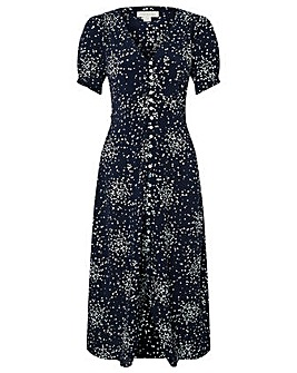 Monsoon Suki Spot Print Midi Dress