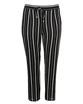 Koko Black and White Pinstripe Trousers