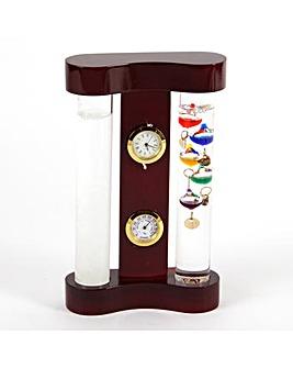 Gallileo Thermometer & Storm Glass 18cm