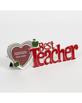 Cut out Letter Photo Frame Best Teacher