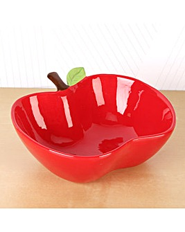 Teacher Ceramic Red Apple Bowl