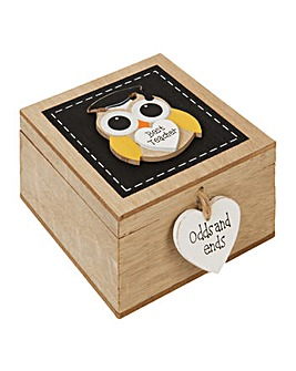 MDF Trinket Box with Owl Best teacher