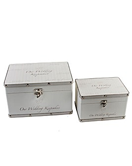 Amore set of 2 Wedding Keepsake Boxes