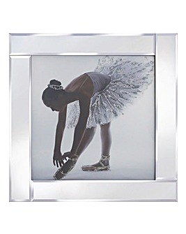 Glitter Ballerina Dress Mirrored Frame