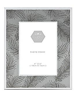 White Feather Frame 6 x 4cm