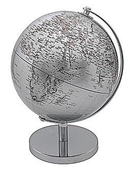 Silver World Globe
