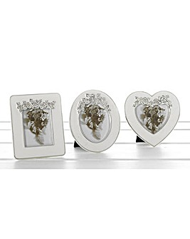 Set of 3 Ice White Mini Frames 3 x 2cm