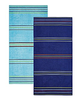 Rainbow Twin Pack Beach Towels