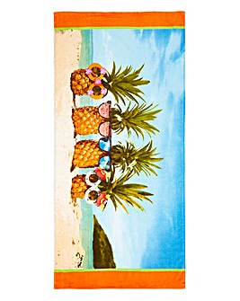 Funky Pineapple Beach Towel